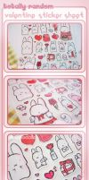 + Valentine Sticker Sheet + by RainCookie