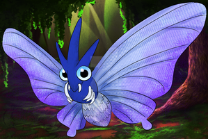 A Wild Venomoth Appeared by XSpiritWarriorX