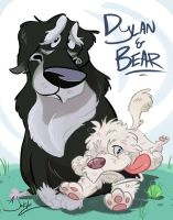 Dylan and Bear by dodgyrommer
