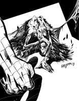 SPIDERMAN VS VULTURE by Gabserra