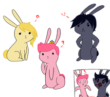 Adventure time BUNNIES~ by Ciaxlia