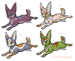 Adoptables: Cabbit Set 1 by seirukei