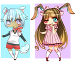 Adopts: Puppy and Bunny OPEN by BunnyBotto