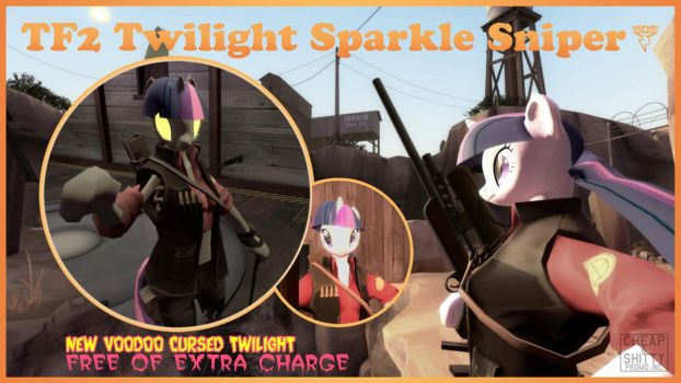 TF2 Twilight Sparkle Sniper by LightningDart