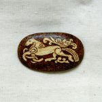 Horse of Odin pyrography woodburned brooch by YANKA-arts-n-crafts