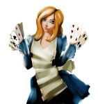 Alice with cards by Vanuchka