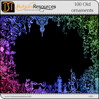 100 Old Ornaments brushes by BuburuResources