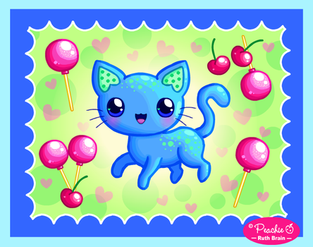 Cherry Lollipop Kitty by Princess-Peachie