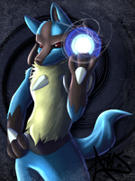 Lucario by AriusLightrush