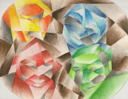 Cubist Friends by emele-the-strange