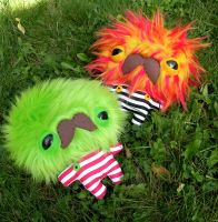 Monster Monstaches by loveandasandwich