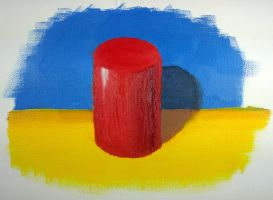 Red Cylinder by macourtney