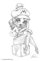 The female Lu's Mario by Lu-s