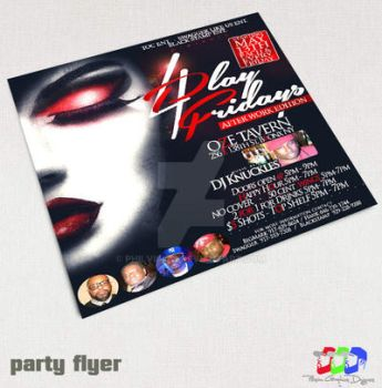 4 Play Fridays party flyer by PhilVision
