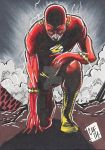 Flash Psc Sketch Card Aceo Atc Dc Comics Chris by chris-foreman