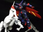 A man...er Gundam and his horse by forever-at-peace