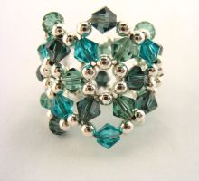 Aquamarine Swarovski ring by TopazTurtle