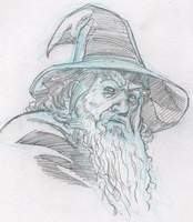 Gandalf sketch by mistermuck