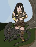 Xena and Xeno by wookieebasher