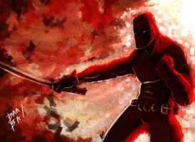 Dead Pool Speed Paint by 2BeanSoup