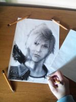 Prompto Argentum (unfinished) by PatrisB