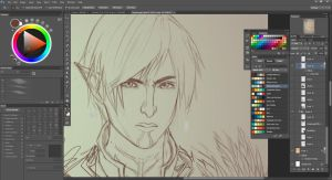 WIP Dragon age 2 by allieh465d
