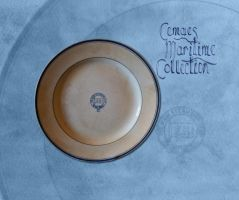 Plate salvaged from a ship wreck by CemaesMaritime