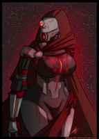 Mass Effect ~ Dark Quarian by RipperSplitter