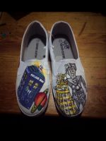 Doctor Who Shoes by IridescentArt1996