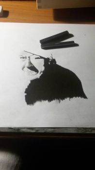 Wip,portrait in charcoal and graphite by Marco-Calo
