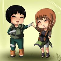 CM:Rock Lee and Yuna by xXUnicornXx