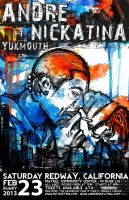 Andre Nickatina ft. Yukmouth band poster by sixslow
