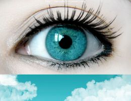 eye .. sky by my-color