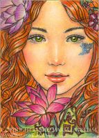 Romance - ACEO by MJWilliam