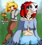 Noke and Ayashi (art trade) by jazzy2cool