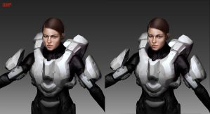Halo 4 Sarah Palmer Commission WIP by katmachiavelli