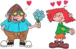 Hoagie Giving Flowers to Fanny by nintendomaximus