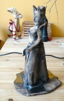 Clay Chess queen candle holder by petrsimcik