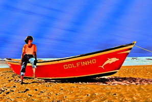 My Mother lodging with Boat by olones
