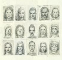 faces sketchdump by art-anti-de