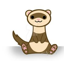 Cute ferret by inu-chan-free