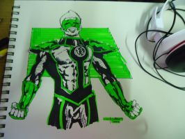 Kyle Rayner as Sinestro Corps by PaeloAngelo12