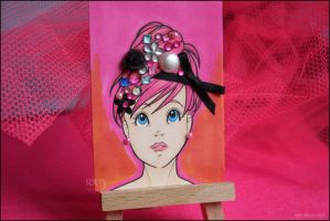 Bejeweled ACEO Portrait by tea-bug