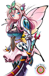 Sena - Fairy Warrior MonHun Color Practice Vector by isshi