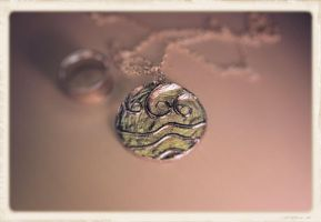 Water Tribe Necklace in Pewter by Meeoko