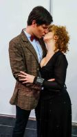 The Eleventh Doctor and River Song by SidneyRobin