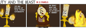 Beauty and Beast in 3 Panels by Cilmeron