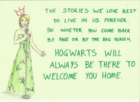 Hogwarts will always be there to welcome you home. by GraceMalvin