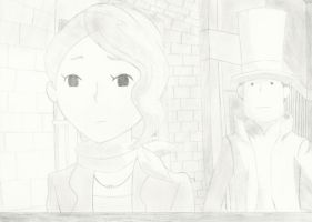 Proffesor Layton 'Claire Leaving...' by geckohero17