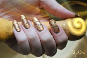 Sandy Mansnoozie Inspired Nail Art by Silyah246